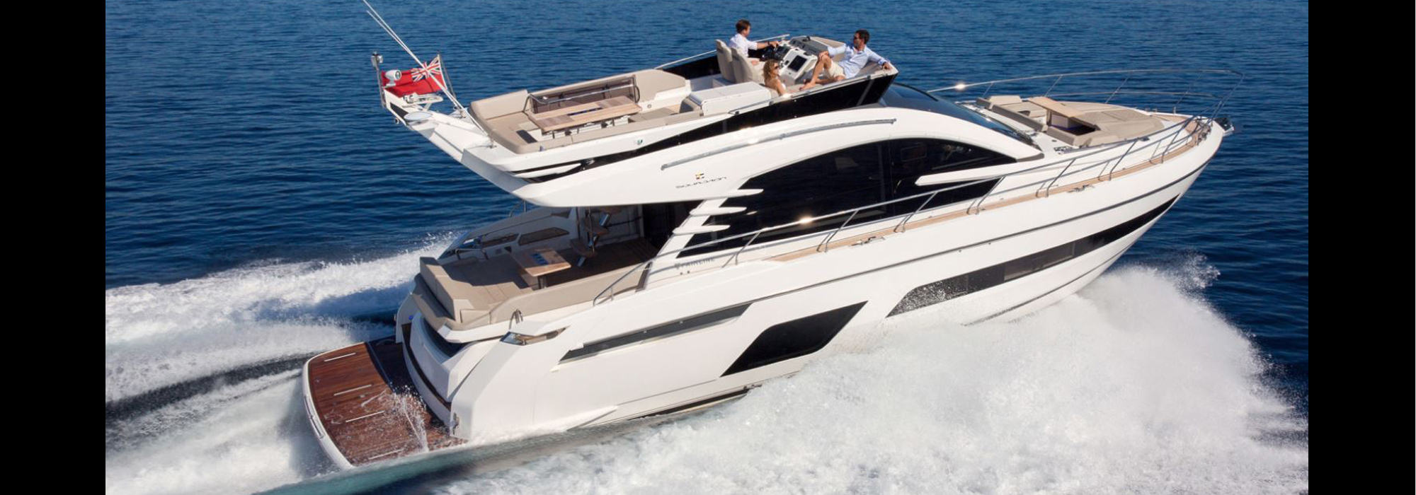 Fairline Squadron 53 luxury flybridge yacht