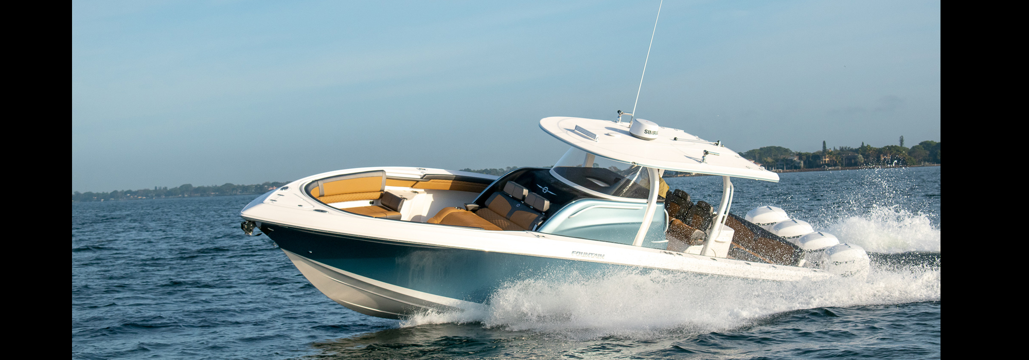 Fountain 43NX luxury center console fishing cruiser